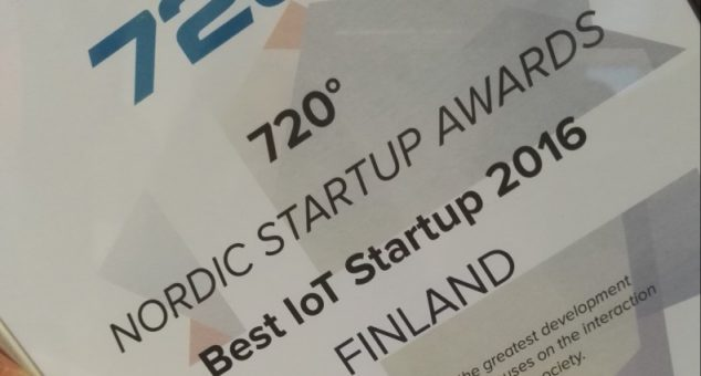 Best IoT startup 2016 – Nordic Startup Awards